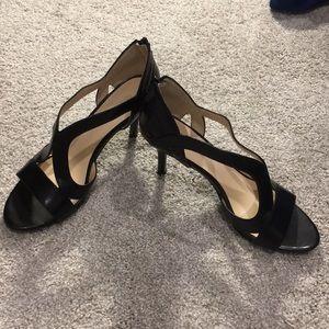 Black Nine West heels. Size 8